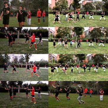 Ultimo allenamento al parco prima dell'inizio ufficiale del corso.