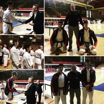 due nuove cinture nere per karate Alfieri