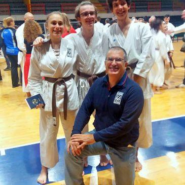 Esami 1° Dan: 3 nuove cinture nere per il Karate Alfieri